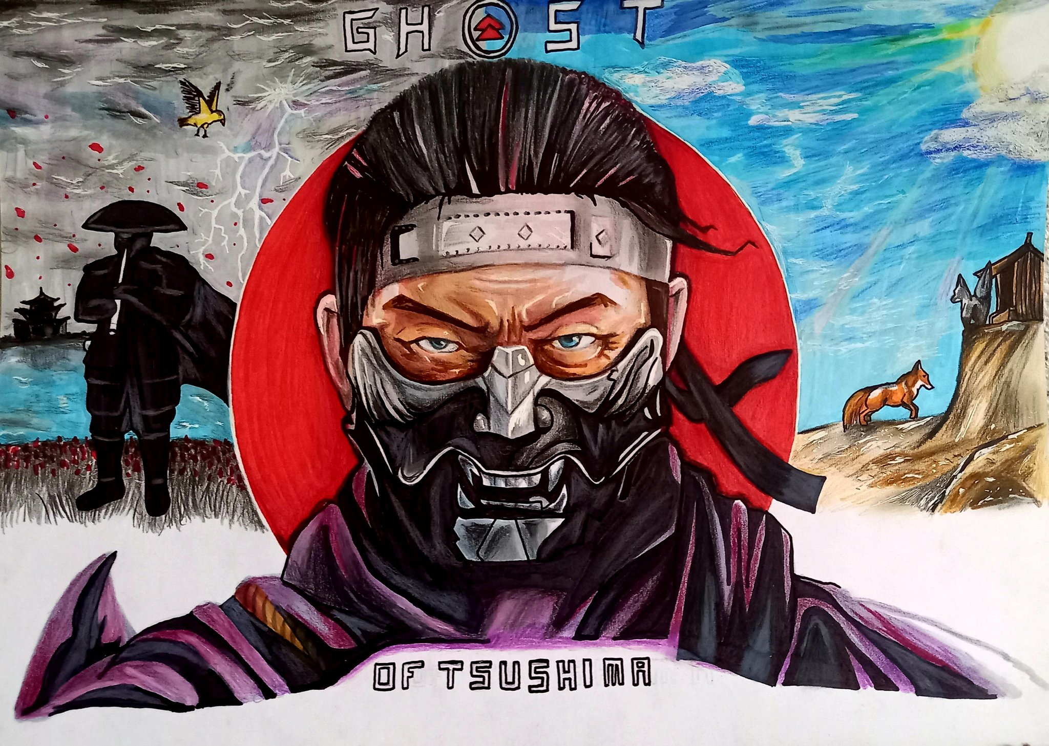 Dessin : Ghost Of Tsushima